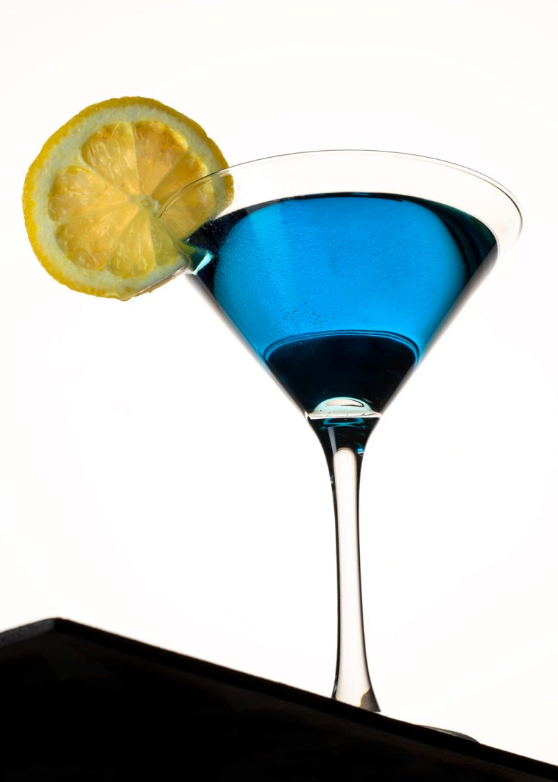 Blue Martini with Lemon