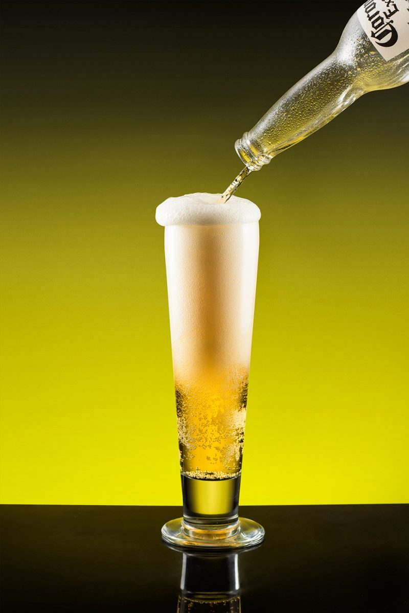 Corona beer pour shot