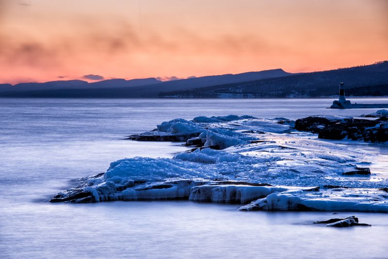 blue hour on lake superior