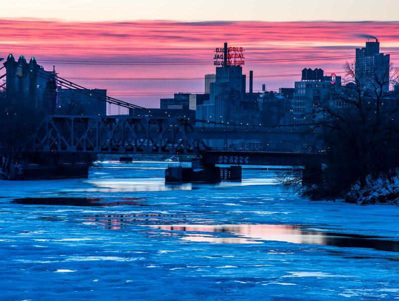 Minneapolis winter colors