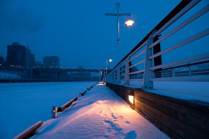 Snowing in Saint Paul