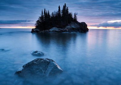Landscape photography of The Rock on Lake Superior North Shore