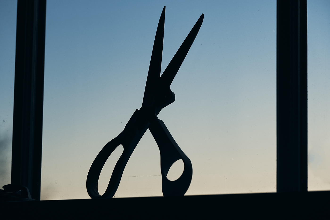 silhouette kitchen scissors sharp