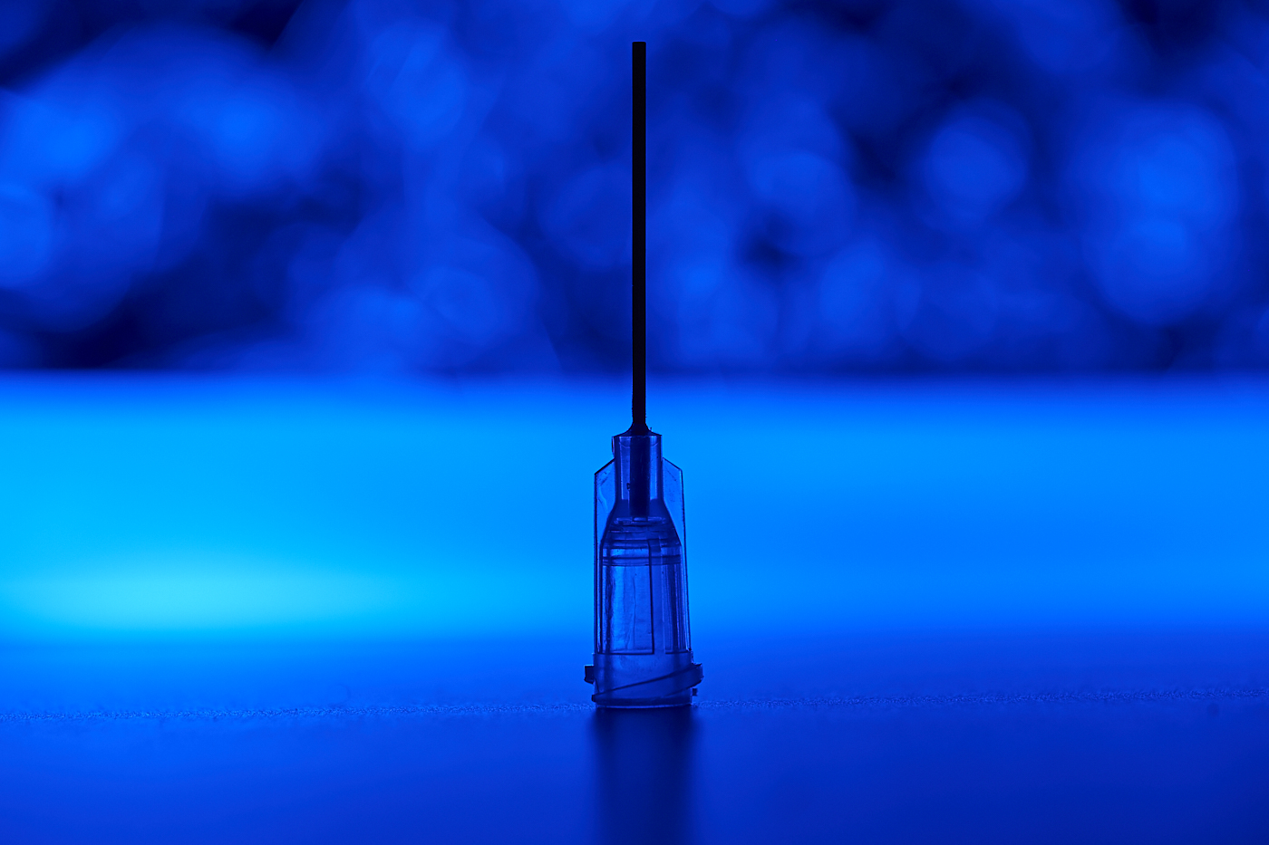 blue medical syringe