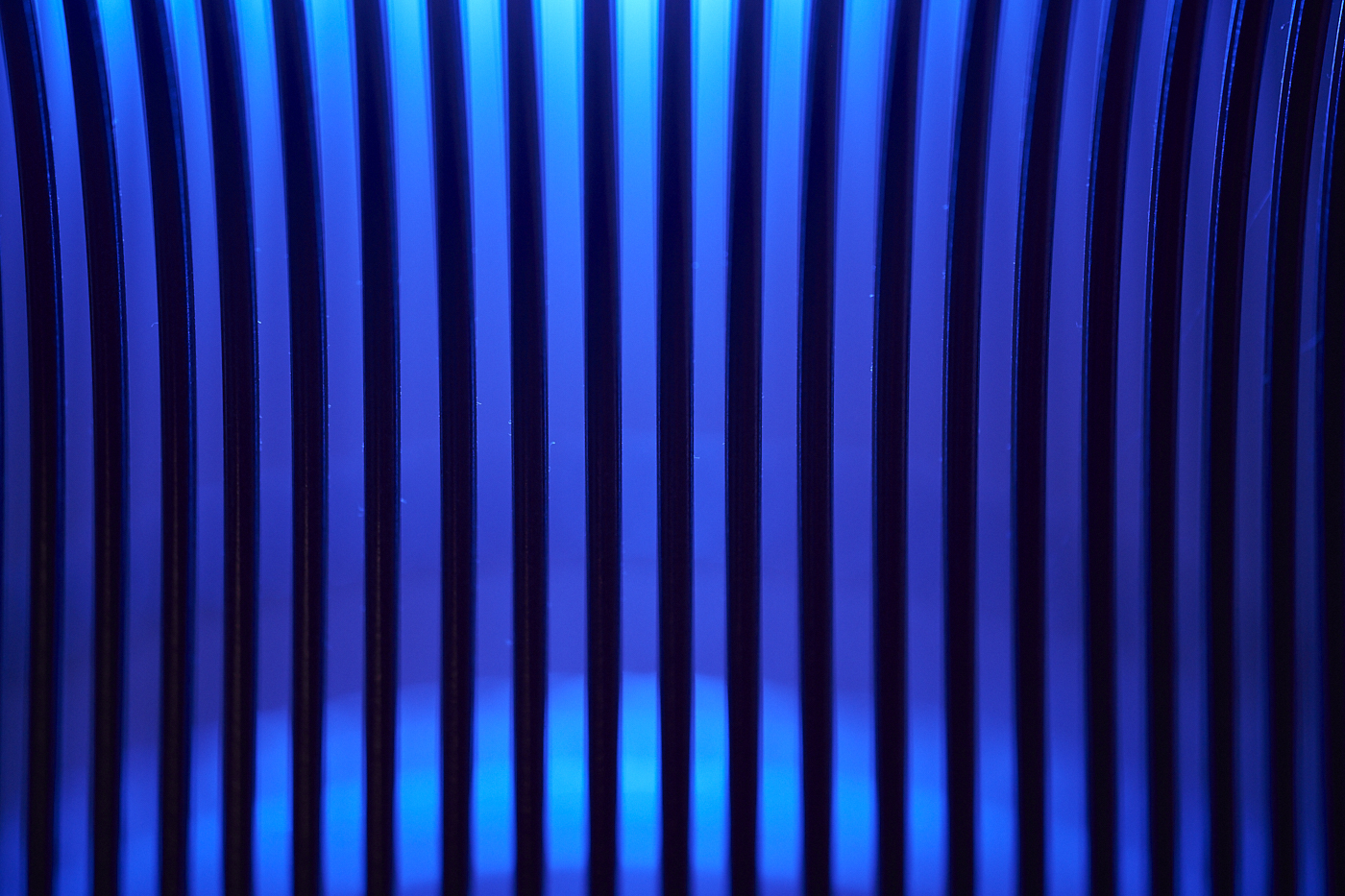 waste basket detail metal in blue