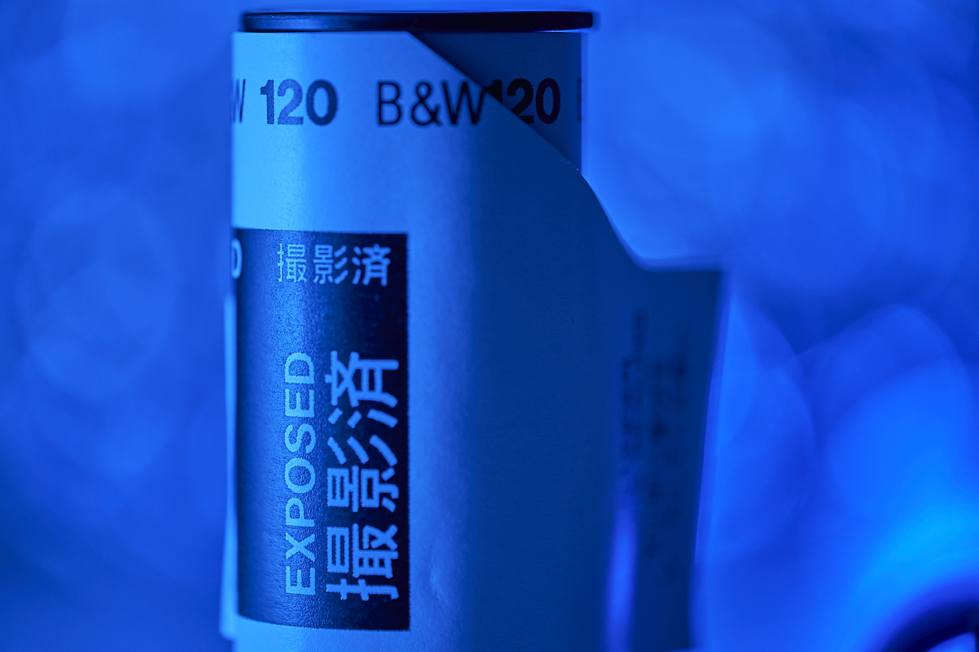 120 B&W film in blue