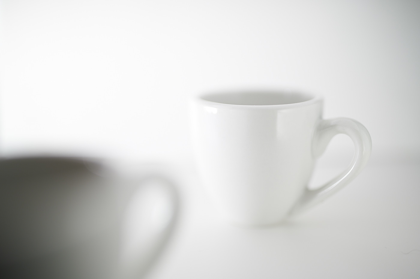 espresso coffee cup on white