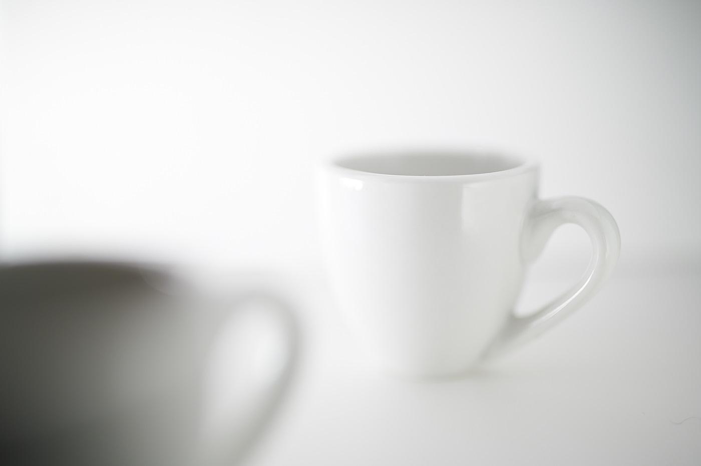 espresso coffee cup on white