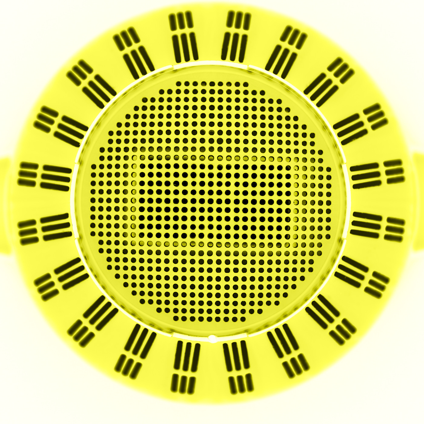 strainer in yellow abstract
