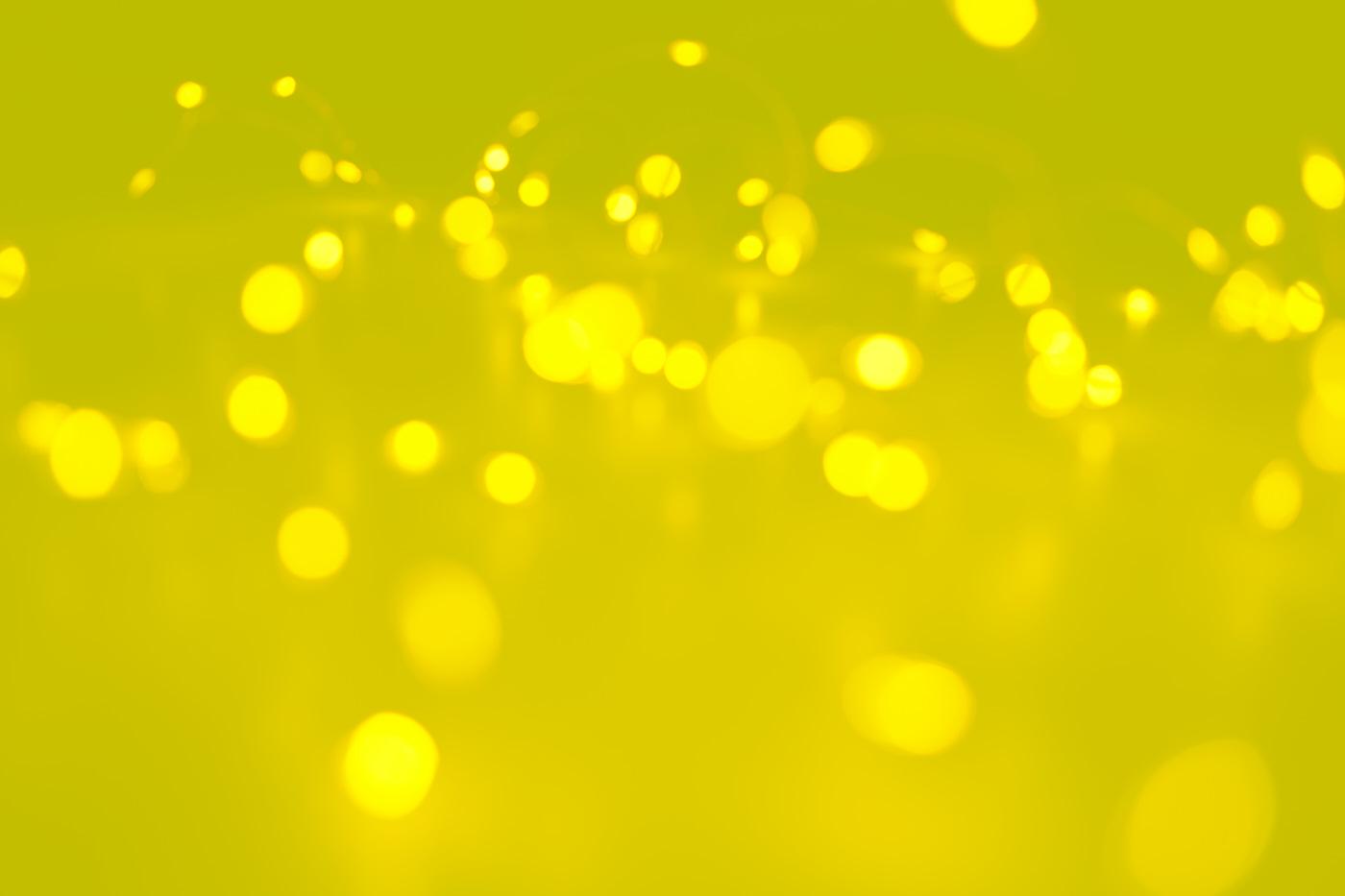 bokeh yellow