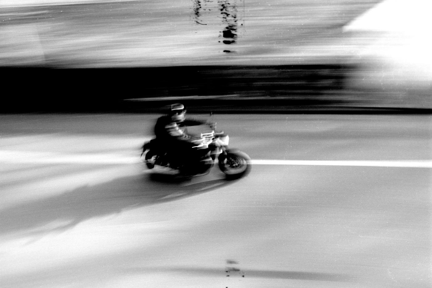 street photography Basel motorcycle leica m3 kodak tmax 100