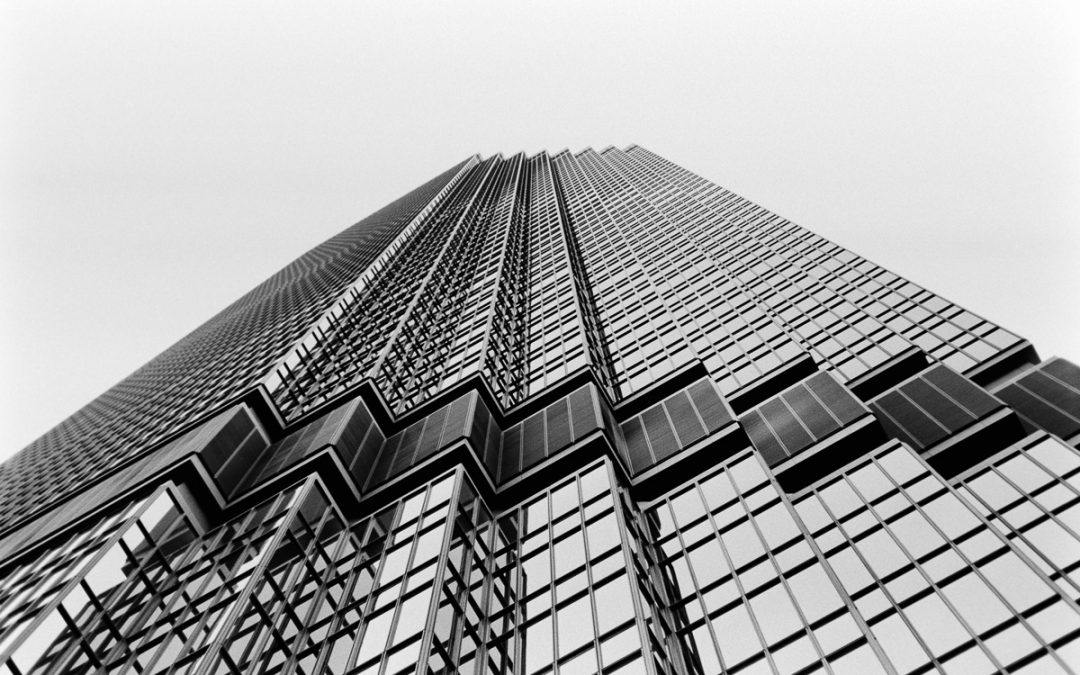 Black and white architecture film photography